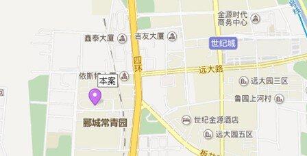 果岭写字楼地图 - 果岭写字楼在哪里?